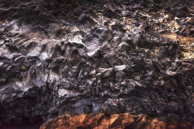 Cabo Dyrholaey Islandia de Reynisfyal de las montañas de la textura Cárpato, Ucrania, Europa imagen de archivo