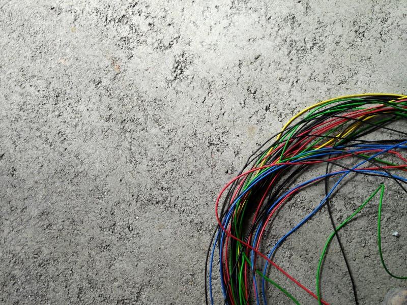 Cabo elétrico colorido foto de stock