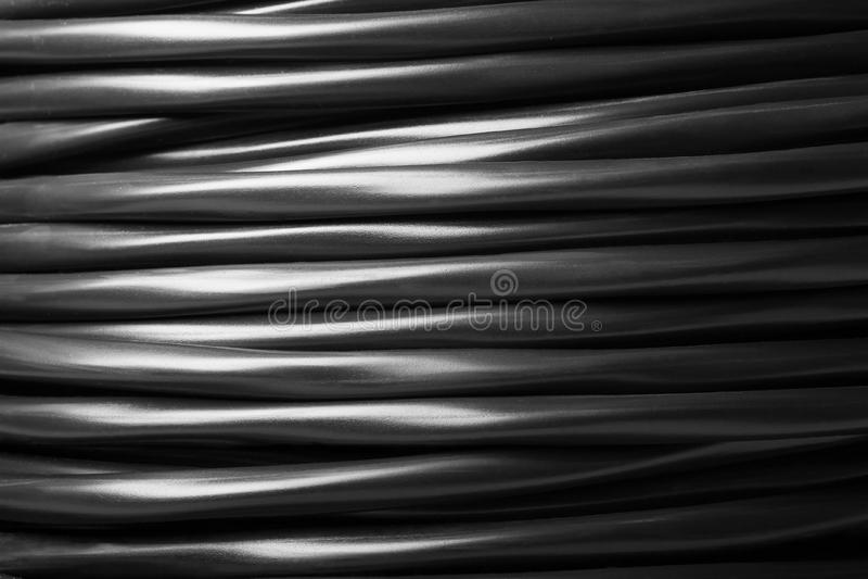 Cabo elétrico preto foto de stock