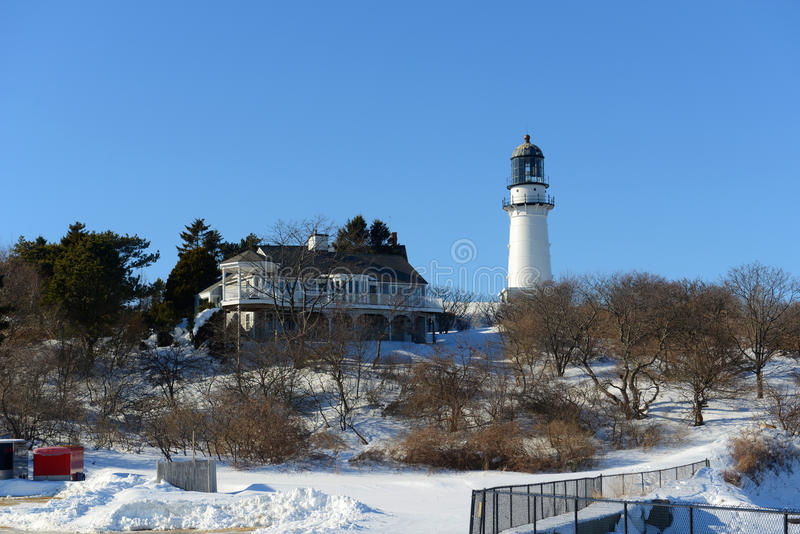 Cabo Elizabeth Lighthouse, Maine, los E.E.U.U. foto de archivo libre de regalías