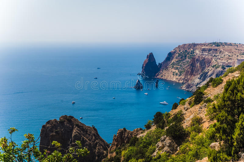 Cabo Fiolent Crimea imagenes de archivo