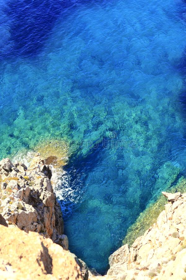 Cabo Formentera de Barbaria do mar Mediterrâneo fotos de stock royalty free