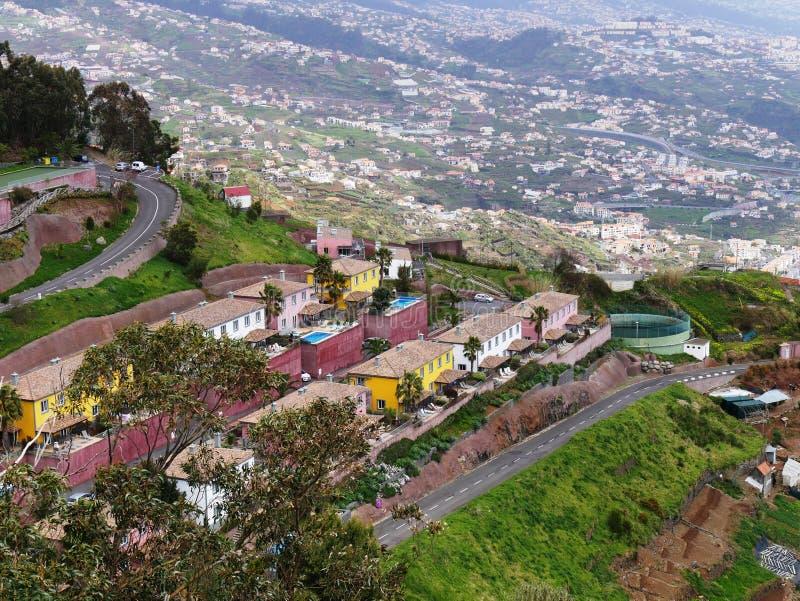 Cabo Girao平台的看法在马德拉岛 库存照片