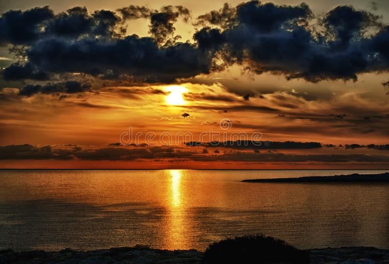 Cabo Greko de la salida del sol de HDR imagen de archivo libre de regalías