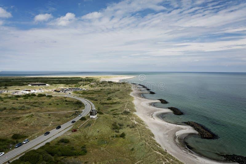 Cabo Grenen, Dinamarca fotos de stock