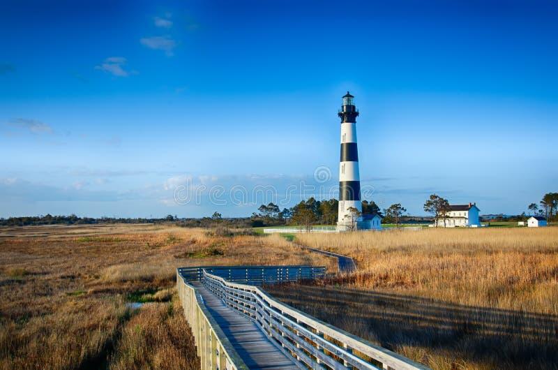 Cabo Hatteras de Bodie Island Lighthouse OBX fotos de stock