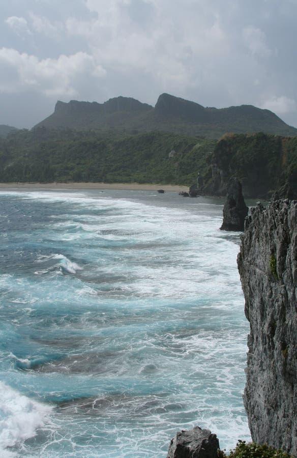 Cabo Hedo, Okinawa fotos de archivo
