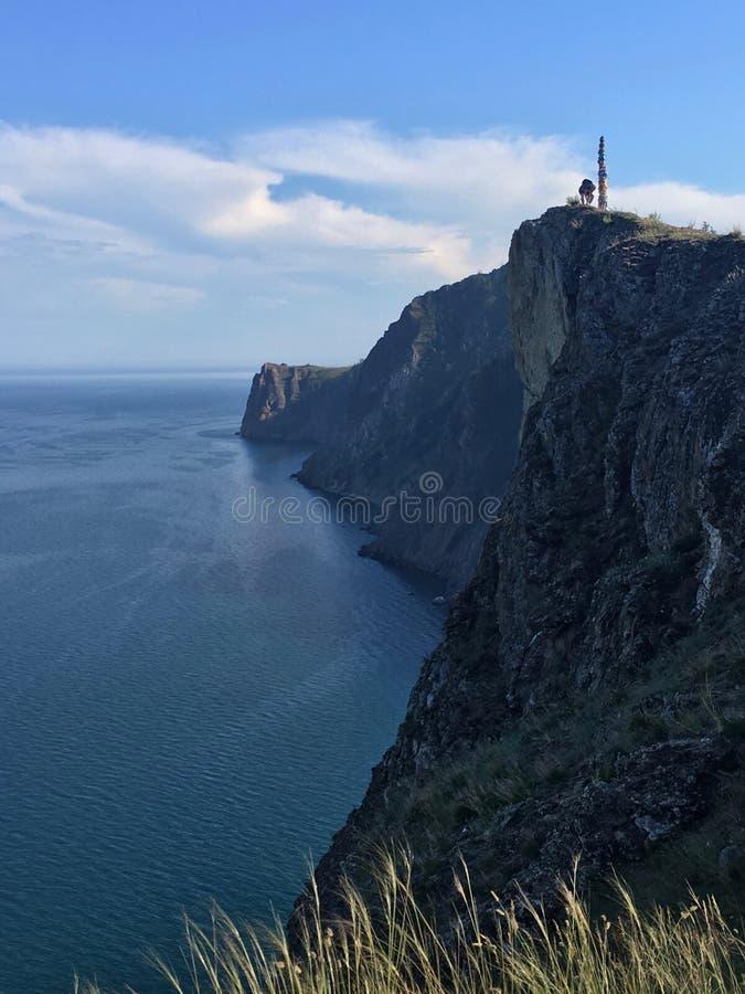 Cabo Khoboy na ilha de Olkhon no Lago Baikal foto de stock royalty free