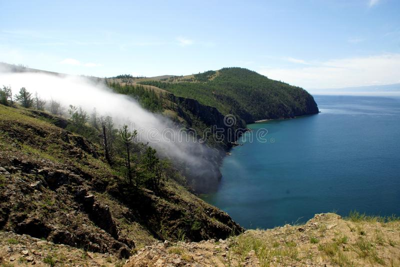 Cabo Khoboy na ilha de Olkhon, o Lago Baikal, Rússia fotografia de stock