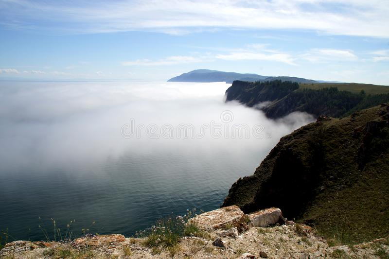 Cabo Khoboy na ilha de Olkhon, o Lago Baikal, Rússia fotografia de stock royalty free
