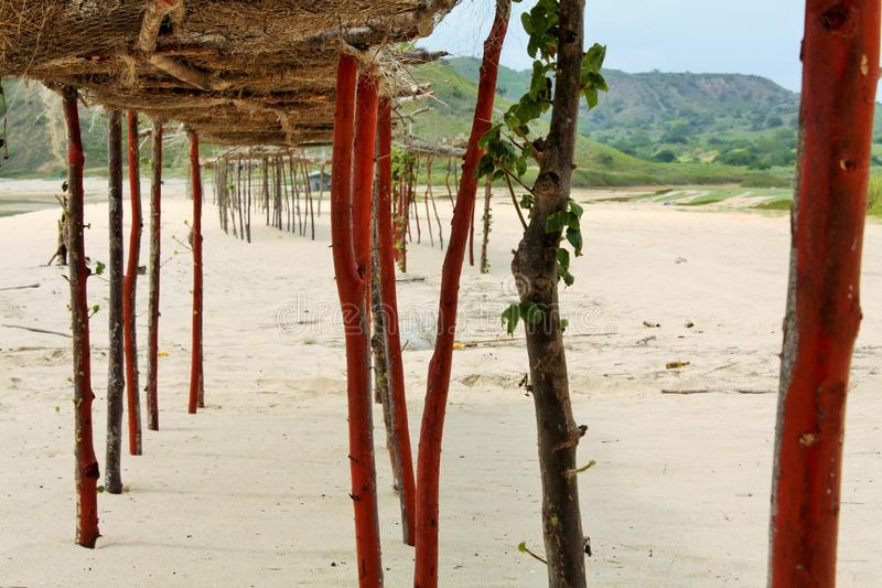 Cabo Ledo plaża w Angola obraz royalty free