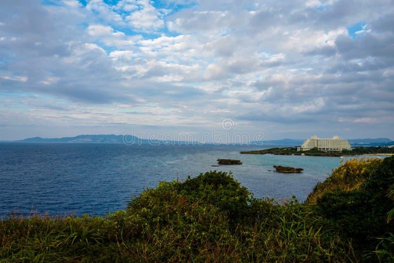 Cabo Manzamo em Okinawa fotos de stock royalty free