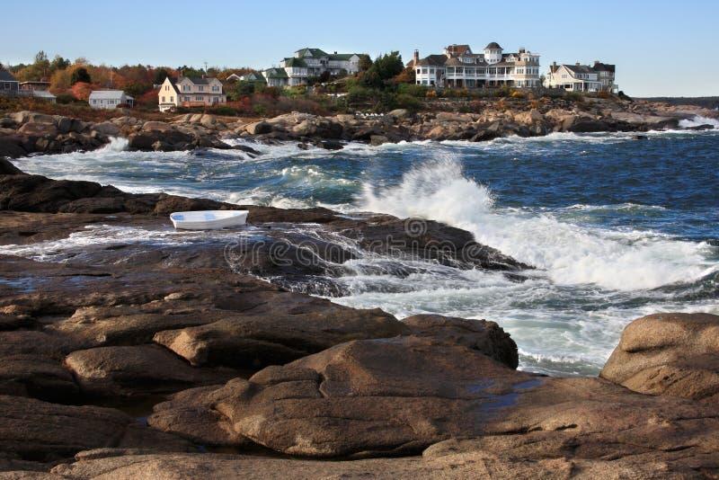 Cabo Neddick, Maine foto de archivo libre de regalías