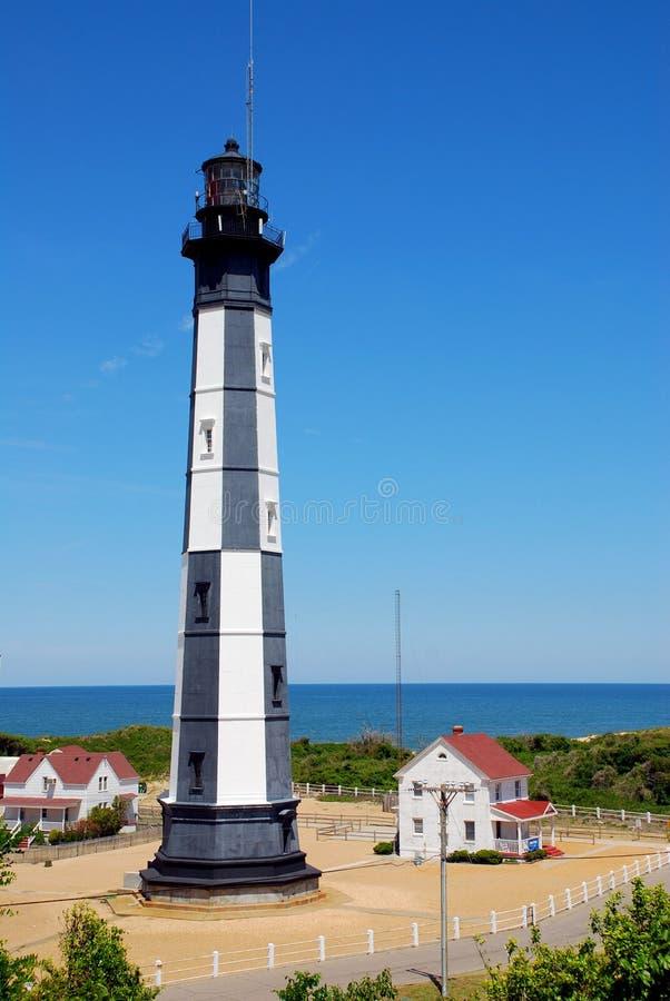 Cabo novo Henry Lighthouse, Virgínia EUA foto de stock