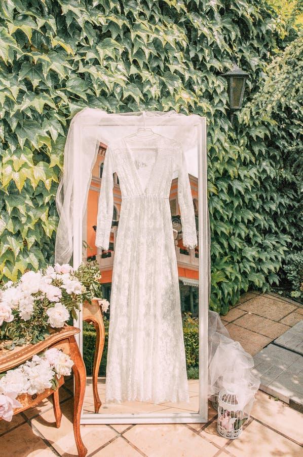 Cabo para la mañana de la novia en la decoración del día que se casa fotos de archivo libres de regalías