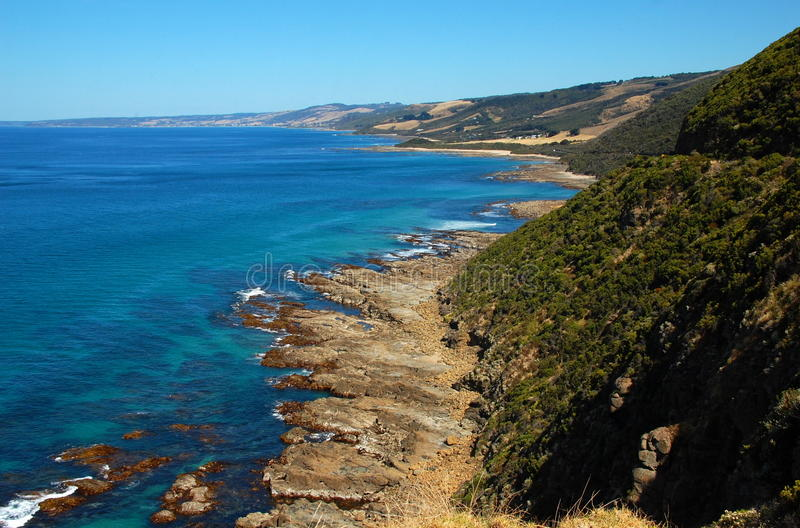 Cabo Patton, gran camino del océano, Australia. imagen de archivo