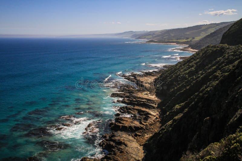 Cabo Patton Lookout Point, grande estrada do oceano, Victoria, Austrália imagem de stock