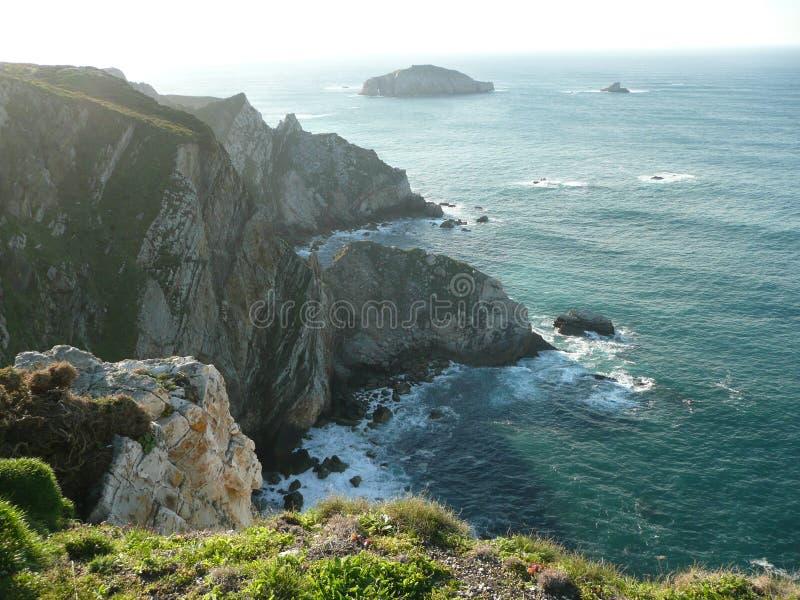 Cabo Peñas, Asturie immagine stock