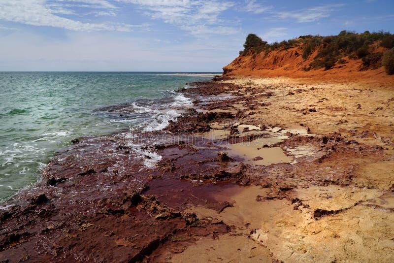 Cabo Peron na Austr?lia Ocidental imagens de stock royalty free