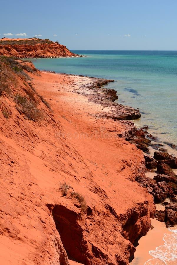 Cabo Peron Parque nacional de François Peron Baía do tubarão Austrália Ocidental imagens de stock royalty free