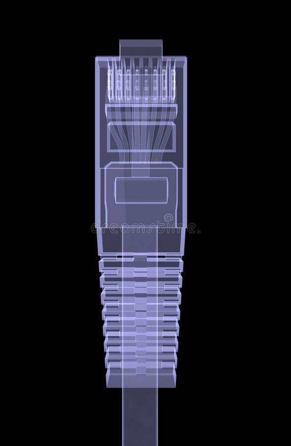 Cabo RJ45 da telecomunicação ilustração royalty free