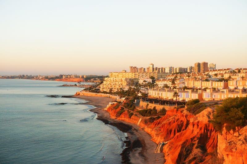 Cabo Roig wybrzeże obraz stock
