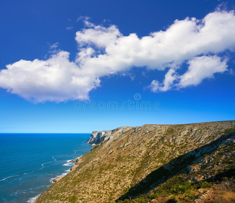 Cabo San Antonio przylądek w Denia Hiszpania zdjęcie royalty free