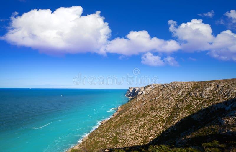 Cabo San Antonio przylądek w Denia Hiszpania obrazy royalty free