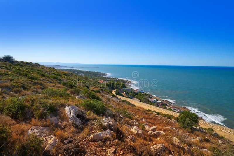 Cabo San Antonio przylądek w Denia Hiszpania zdjęcia stock