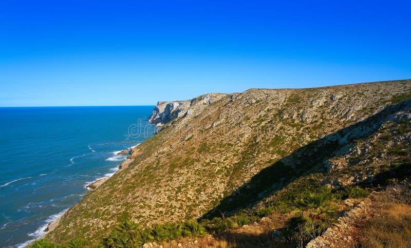 Cabo San Antonio przylądek w Denia Hiszpania fotografia royalty free