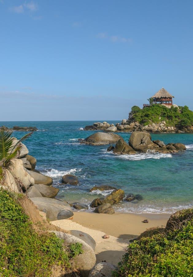 Cabo San Juan, het nationale park van Tayrona, Colombia royalty-vrije stock foto