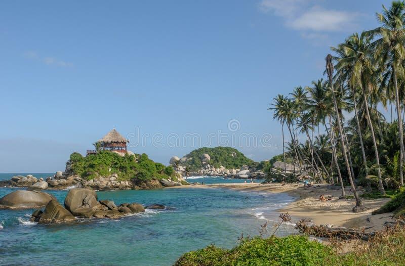 Cabo San Juan, parque nacional de Tayrona, Colômbia imagens de stock royalty free