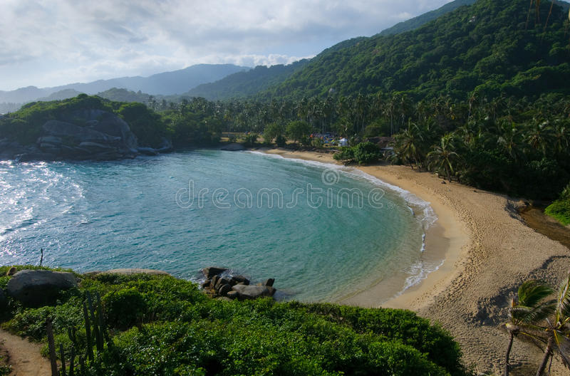 Cabo San Juan, stationnement national de Tayrona, Colombie photographie stock libre de droits