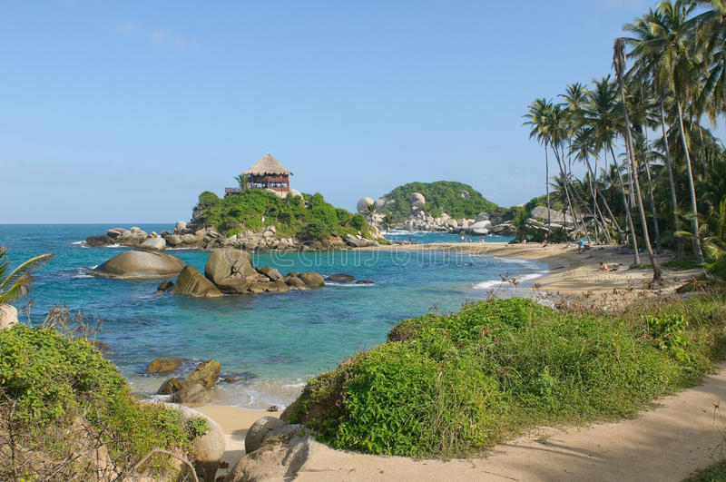 Cabo San Juan, Tayrona national park, Colombia royalty free stock image