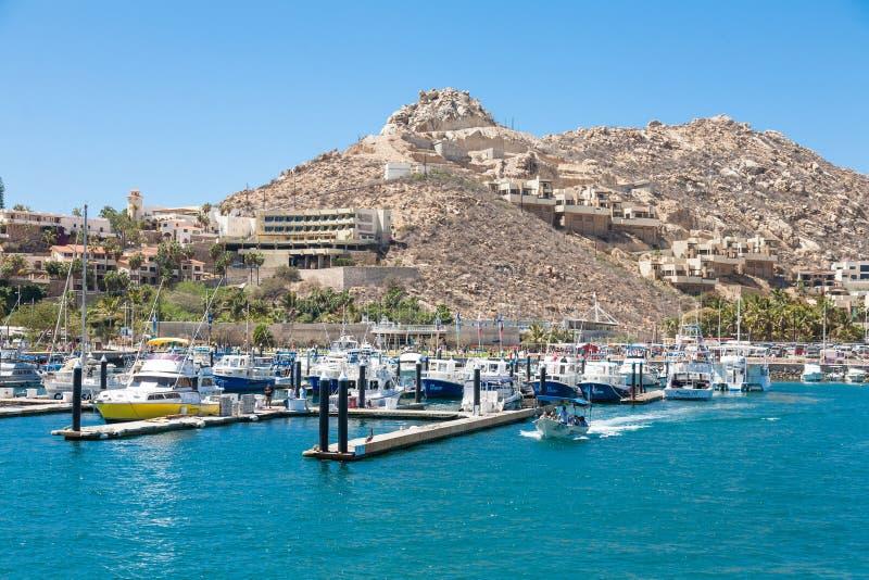 Cabo San Lucas marina on Baja California, Mexico. stock photography