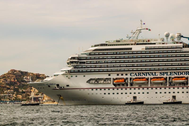 Cabo San Lucas, Mexico - 2019. Cruise ship anchored in Cabo San Lucas port of call royalty free stock photography