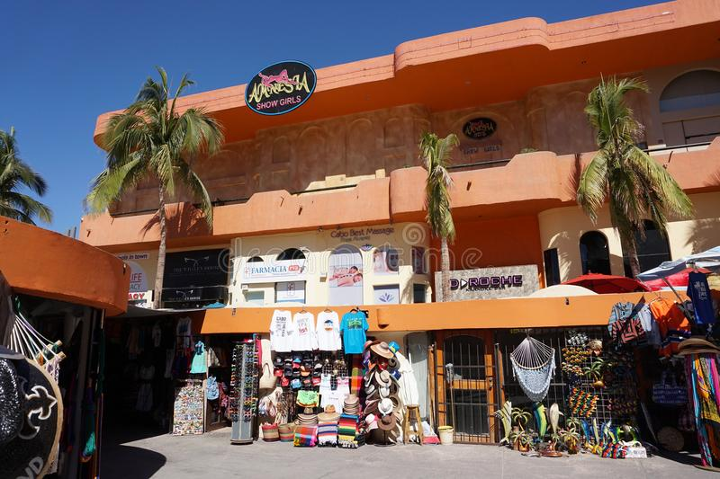 CABO SAN LUCAS, MEXICO - JANUARY 25 2018 - Pacific coast town is crowded of tourist stock photo