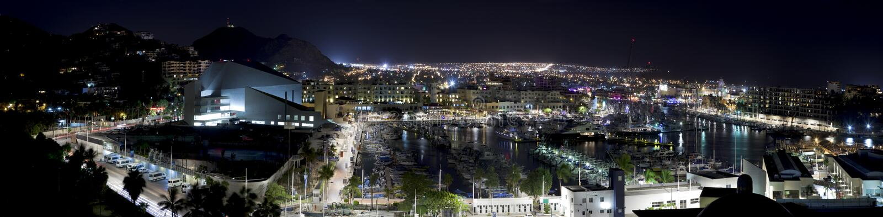 Cabo San Lucas (panorámico) foto de archivo