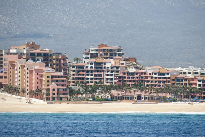 Cabo San Lucas Rücksortierung-Eigentumswohnungen stockfotografie