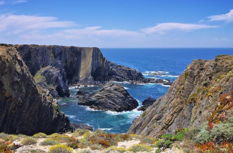 Cabo Sardao coast royalty free stock photography