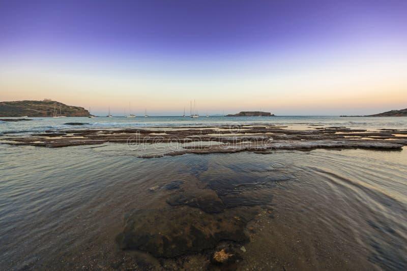 Cabo Sounio no crepúsculo fotografia de stock royalty free