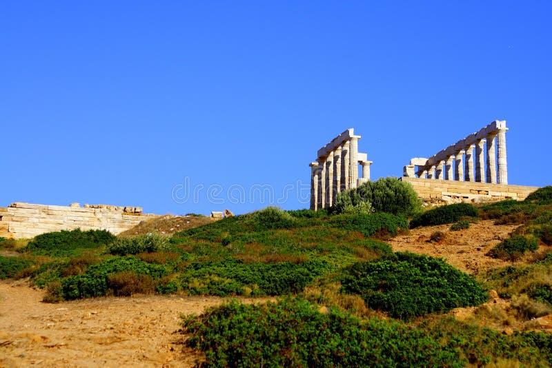 Cabo Sounion - Greece foto de stock royalty free