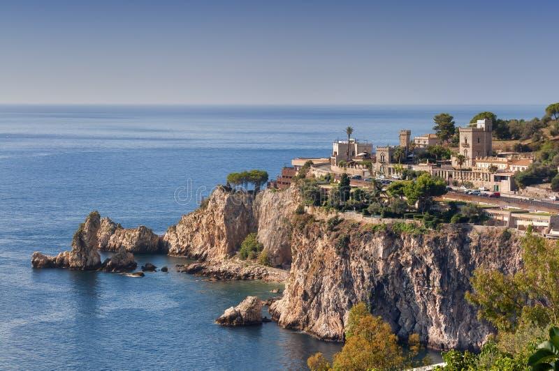 Cabo Taormina foto de stock royalty free