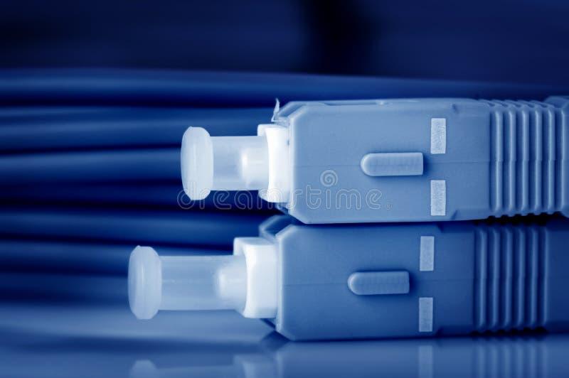 Cabos da fibra óptica imagens de stock