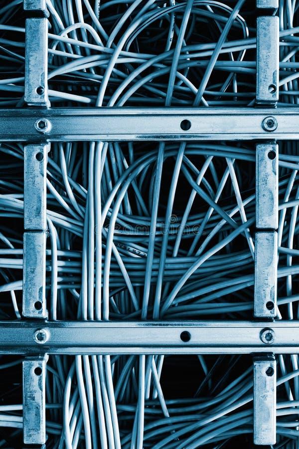 Cabos de correcção de programa do Ethernet imagens de stock royalty free