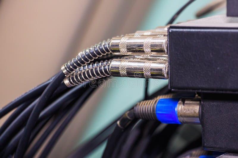 Cabos e conectores audio fotos de stock royalty free
