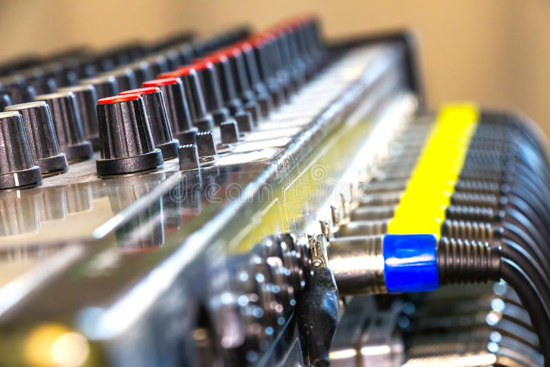 Cabos e conectores audio imagens de stock royalty free