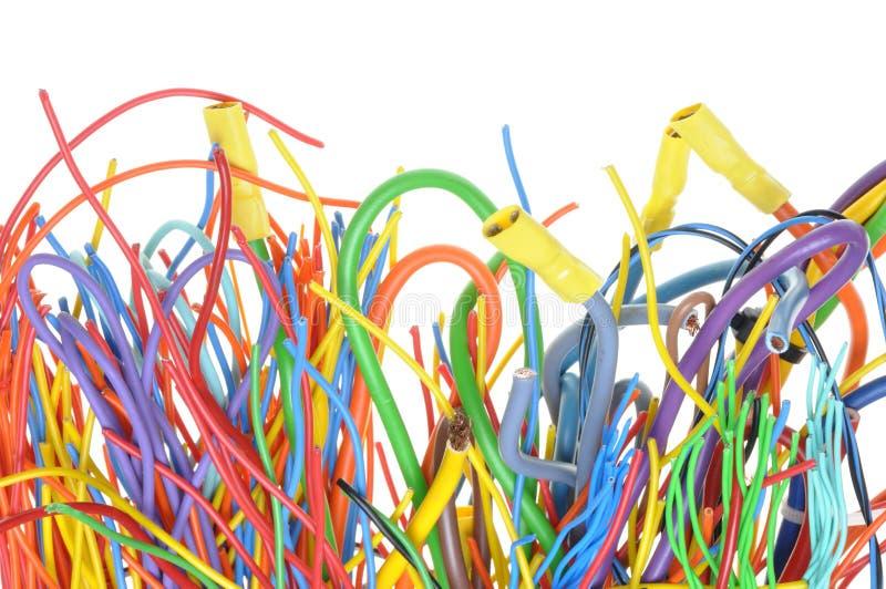 Cabos elétricos coloridos foto de stock royalty free