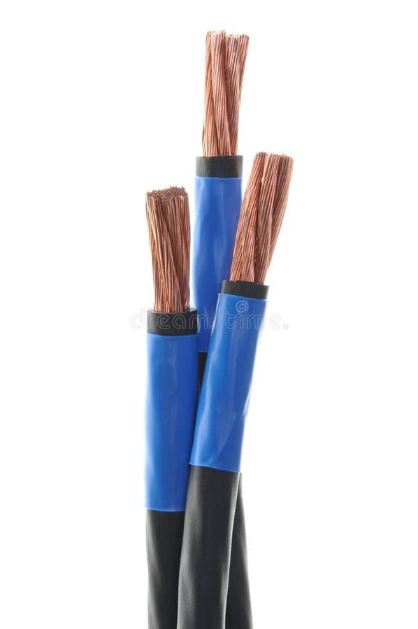 Cabos elétricos de cobre cancelados imagens de stock royalty free