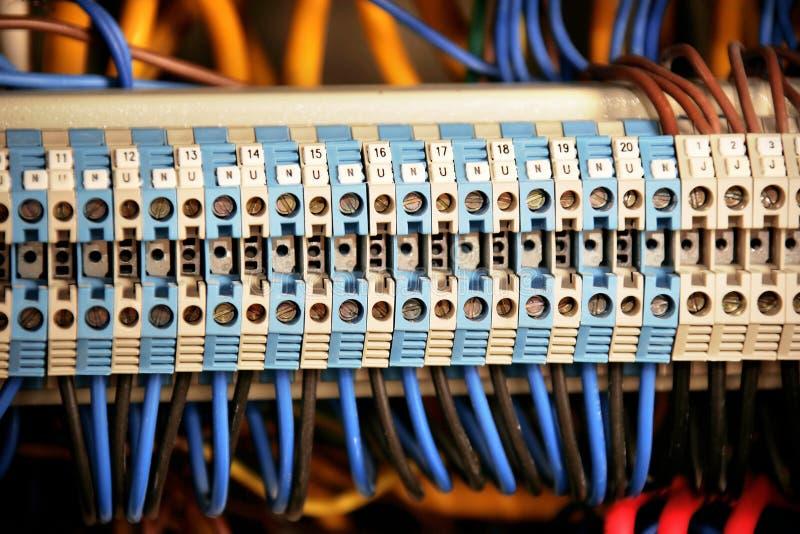 Cabos no transformador foto de stock royalty free
